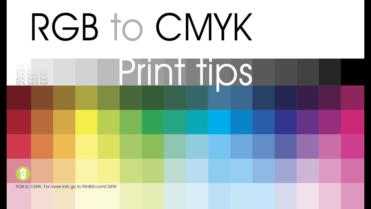 Rgb To Cmyk Print Tips Youtube