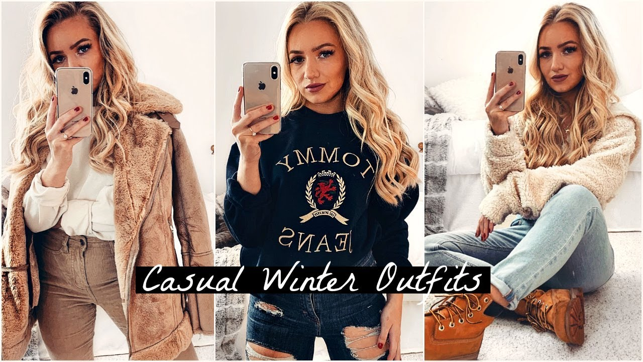Casual Look Haare Casual Winter Outfits 2018 2019