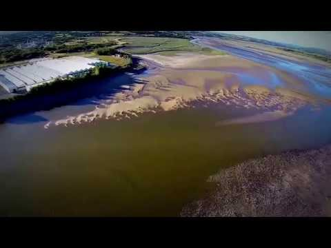 Loughor River By Air Tour Wales '@Loughor