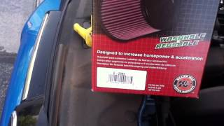Installing a K&N air filter on a 2013 Focus
