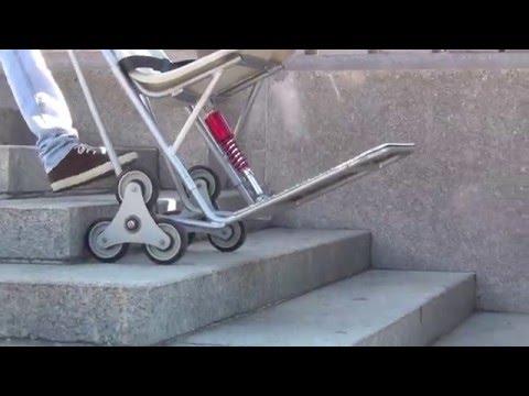 Silla salvaescaleras para personas con discapacidad for Sillas para subir y bajar escaleras