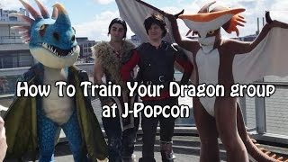 How To Train Your Dragon cosplay group at J-Popcon 2017 - Cosplay Convention