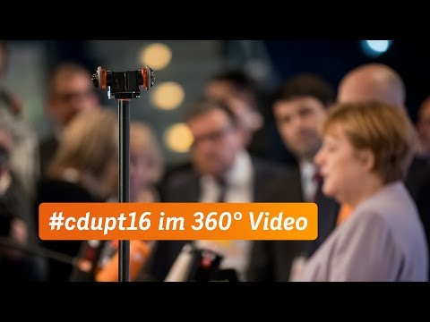 Angela Merkel vor CDU-Parteitag in Essen (360°-Video)