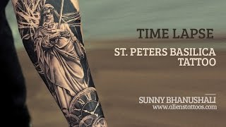 Time Lapse - Making of St Peters Basilica Tattoo by Sunny Bhanushali