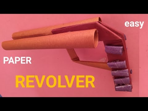 how to make paper double barrel gun - paper double barrel revolver - paper pistol