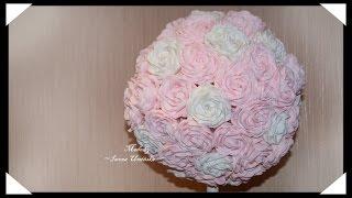 Большие цветы из гофрированной бумаги(Хотите сделать цветы их гофрированной бумаги? Предлагаю сделать красивые розы или даже букет роз! Как сдела..., 2014-08-03T13:27:57.000Z)