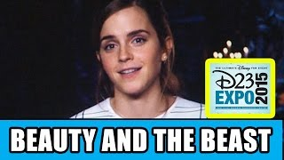 beauty and the beast d23 expo panel highlights emma watson