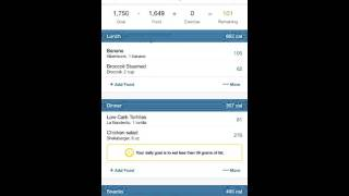 Meal Planning with MyFitnessPal
