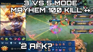 1000 CABLE FANNY AND 100 ++ KILL | DWIWOII PLAY MODE MAYHEM MOBILE LEGENDS