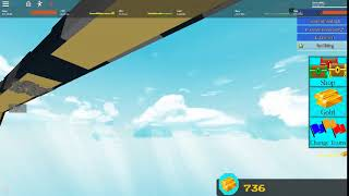 Un clip de mí cayendo por el mapa en Construir un barco para el tesoro (ROBLOX)