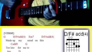 Here Tonight by Hale  - Guitar Chords