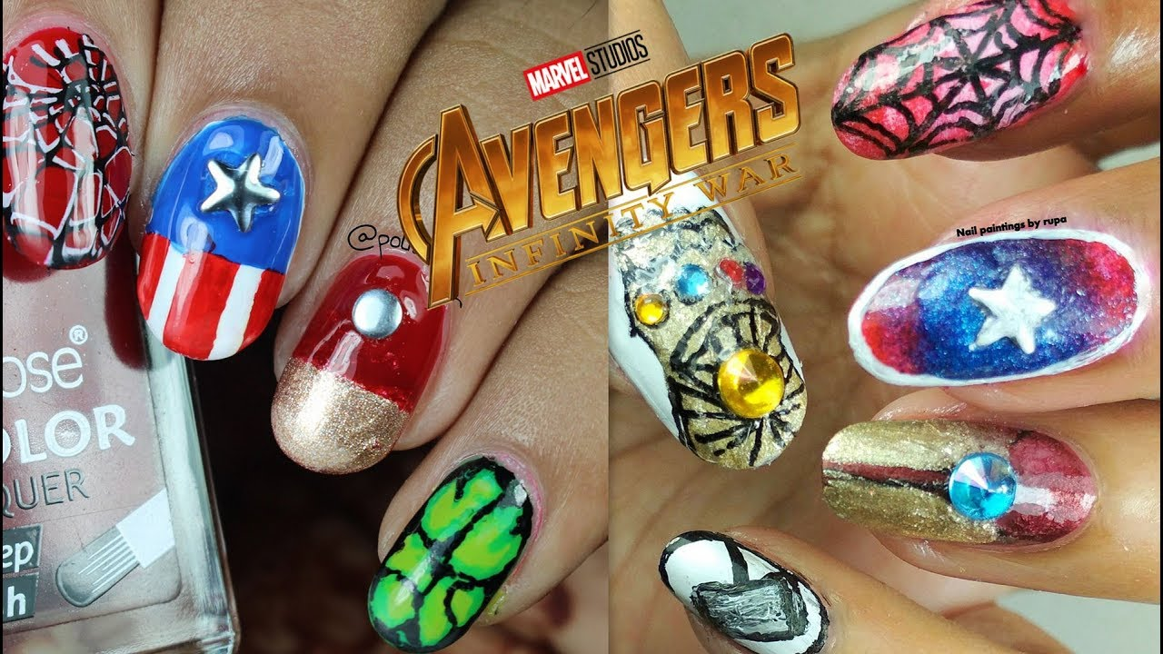 Avengers Infinity War Nail Art Collab With Nail Painting By Rupa