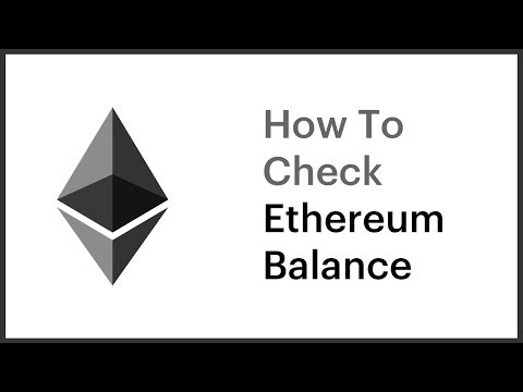 How To Check Ethereum Balance?