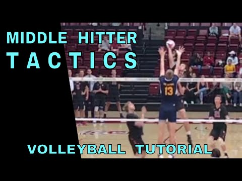 Middle Hitter Tactics - Volleyball Tutorial (how To Spike A Volleyball)