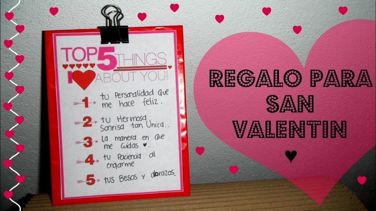 Top 5 regalo para san valentin tutorial novio youtube - San valentin regalos ...