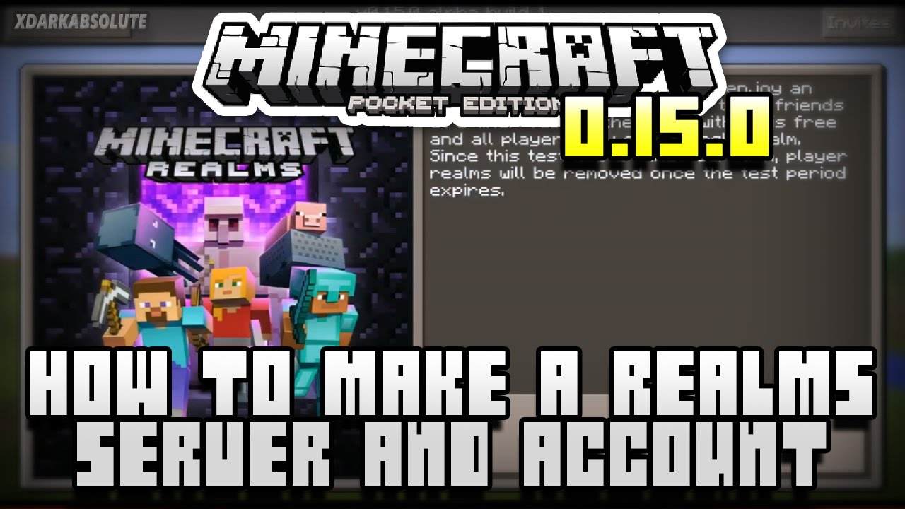 How To Create A Minecraft PE Realms Server Account Pocket - Minecraft maps fur kinder
