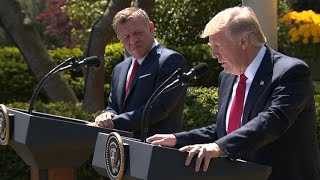 Full Video: At White House news conference, Trump condemns Syria chemical attack