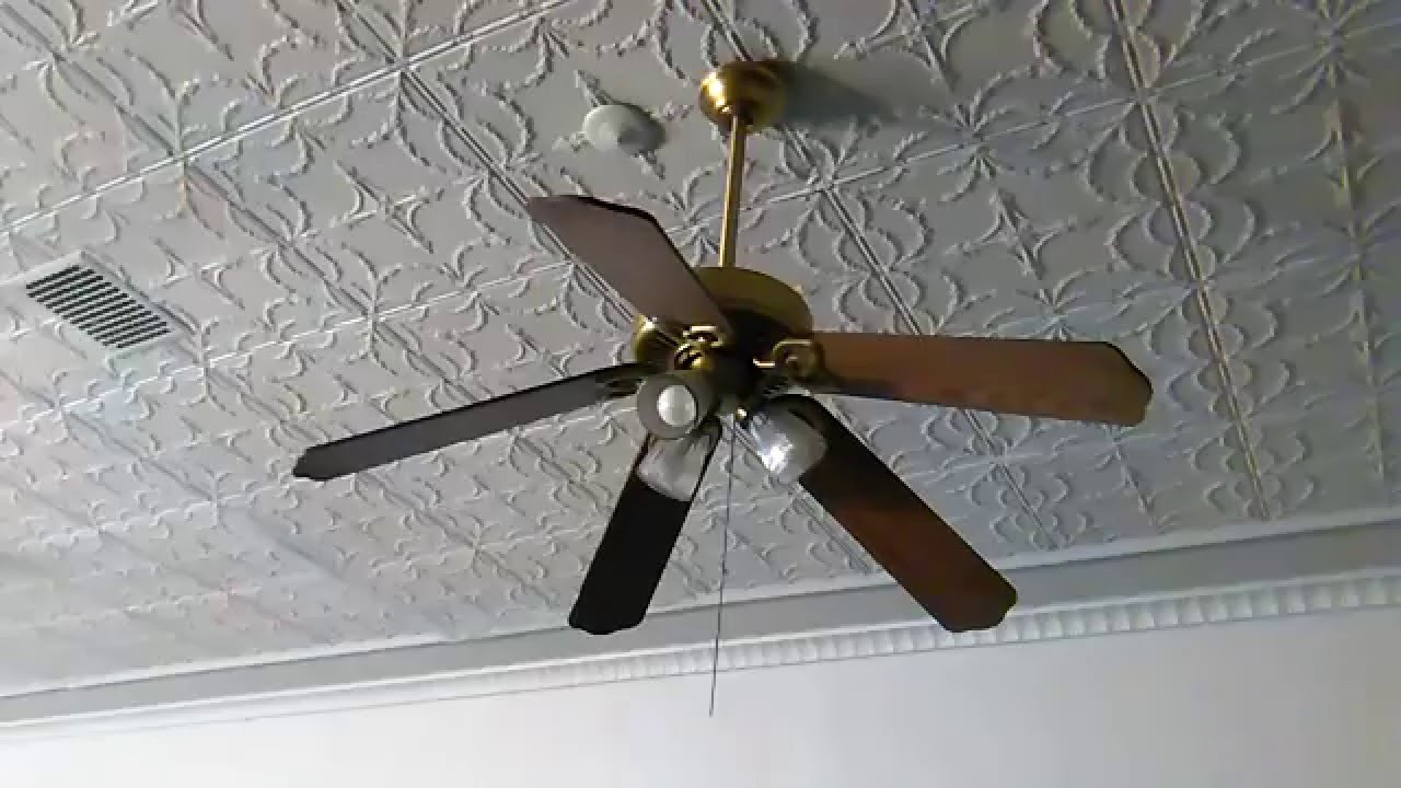 Broken Hampton Bay Huntington II Ceiling Fan - YouTube