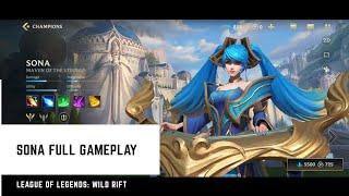 League Of Legends: Wild Rift (Closed Beta) Sona Gameplay