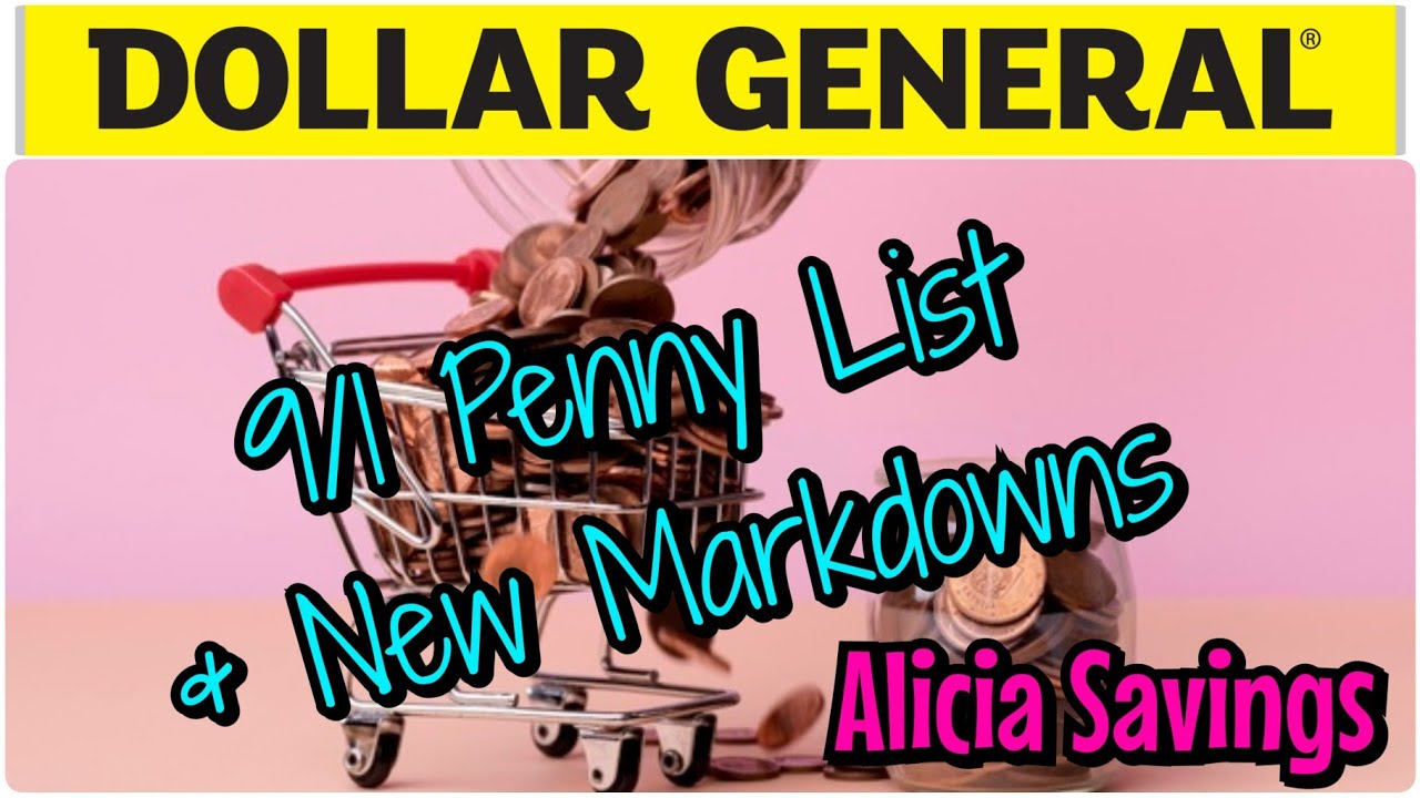 9/1 Penny List & New Markdowns ! Dollar General Penny List 9/1/20