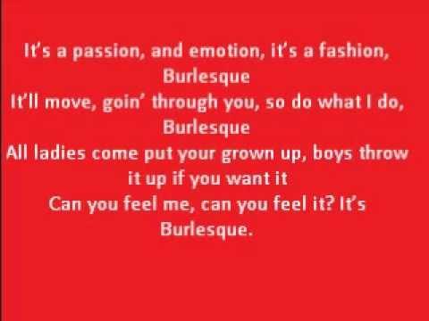 Christina Aguilera - Express (lyrics)