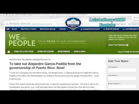 Petición A Casa Blanca: Sacar AGP de Gobernación