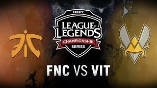 Video FNC vs. VIT  - Week 2 Day 1 | EU LCS Spring Split |  Fnatic vs. Team Vitality  (2018) download MP3, 3GP, MP4, WEBM, AVI, FLV Agustus 2018