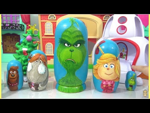 DIY Hand Painted Dr. Suess The Grinch Nesting Dolls