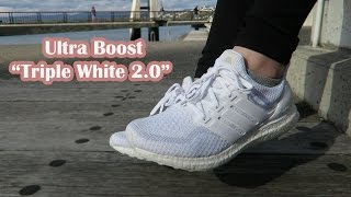 adidas ultra boost triple white 2 0   women