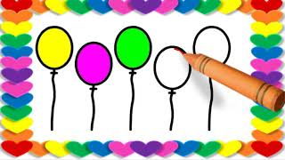 TOP 5 Balloon Colorful Balloons Drawing | Balloon Drawing Pictures | Drawing Colors for Kids