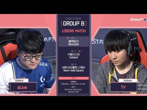 [2018 GSL Season 1]Code S Ro.16 Group B Match4 aLive vs TY