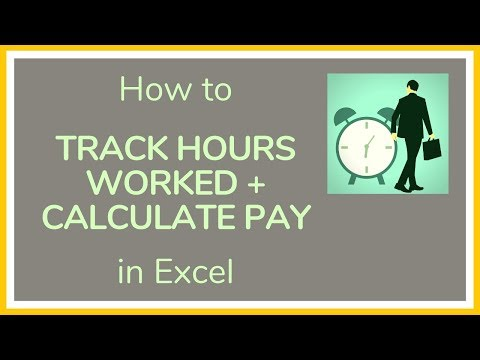 How To Track Hours Worked In Excel + How To Calculate Pay In Excel - Tutorial ⏰💰