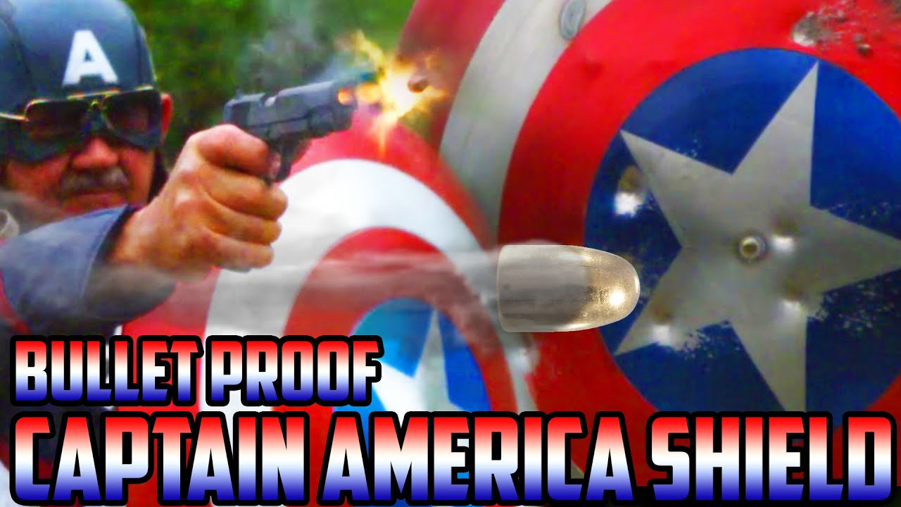 REAL BULLET PROOF CAPTAIN AMERICA SHIELD vs  LIVE AMMO! | (SUPER SlowMo)  Can you protect yourself?