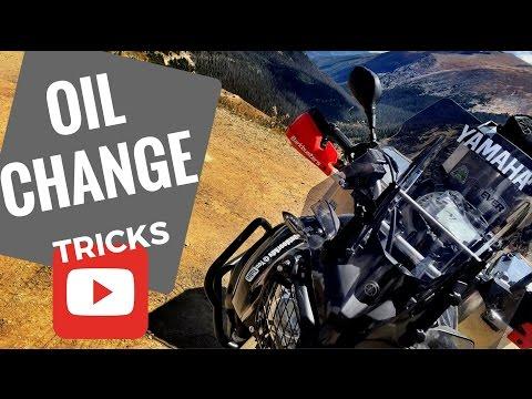 motorcycle oil change tip or trick yamaha super tenere