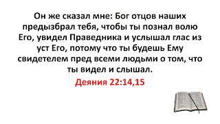 Библия, Новый Завет. Деяния 22:14,15
