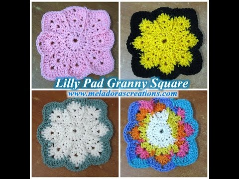 Download Lilly Pad Granny Square - Left Handed Crochet Tutorial