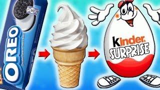 Мороженое с OREO в Огромном Киндер Сюрпризе