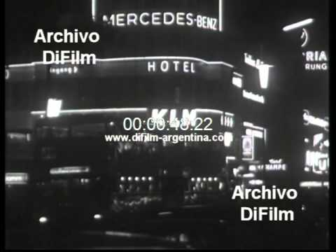 DiFilm - Images city of Berlin during the night 1964