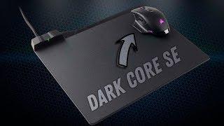 Коврик с беспроводной зарядкой Corsair MM1000 и Мышка с беспроводной зарядкой Corsair Dark Core SE