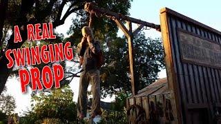 Make A Pneumatic Thrasher Hangman & Gallows Prop: Scary Diy Halloween Decorations
