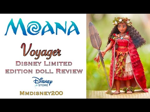 """Disney Store: MOANA Voyager Limited Edition 17"""" doll Review (Comparisson)"""