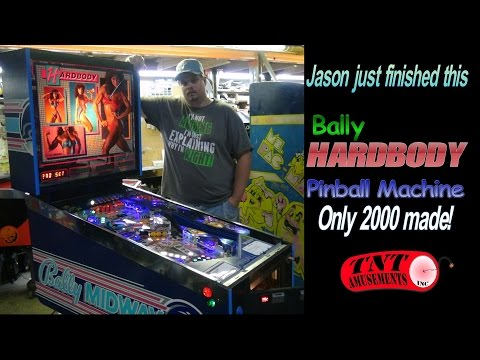 #973 Bally HARDBODY Pinball Machine & It's Secrets! Plus Str