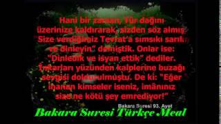 Bakara suresi Türkçe meal 89 90 91 92 ve 93 ayetler