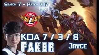 SKT T1 Faker JAYCE vs KASSADIN Mid - Patch 7.17 KR Ranked