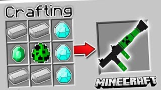 CRAFTING MINECRAFT MOBS INTO GUNS!!