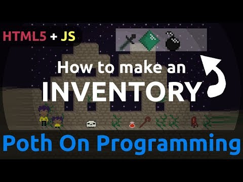 How To Make An Inventory In HTML5 And JS