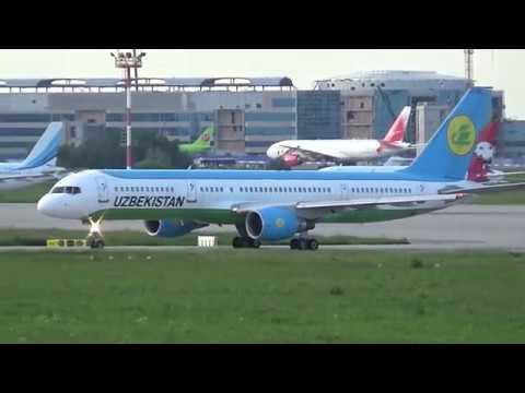 Uzbekistan Airways Boeing 757-231 Departure from DME/UUDD/Moscow