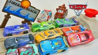 Cars 3 Fireball Beach Racers New Sandy Next Gen Race Cars and Mater Pranks them!