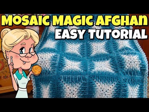 "Mosaic Magic Afghan - Easy Crochet Tutorial - Lion Brand ""Scarfie"" Yarn thumbnail"