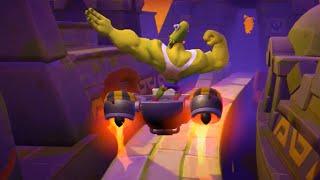 Crash Bandicoot Mobile - Gameplay Walkthrough Part 2 - Mutagen Nitrus Brio's Gang Boss Battle